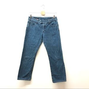 Jean Paul Gaultier Low Waisted Flare Cropped Jeans